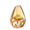 Glass Lamp Bead Drop 12x8mm Silver/Topaz
